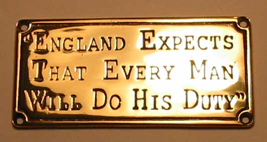 England Expects Plaque