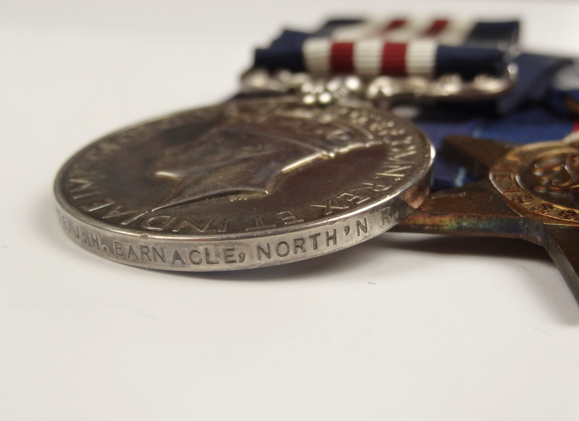 Gallantry : WWII M M  GROUP OF 5 MEDALS TO PTE  J H